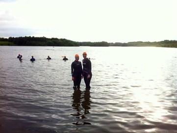 Open water swimming training