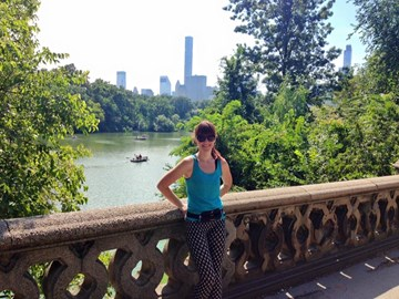 After a knackering run in Central Park, NYC!