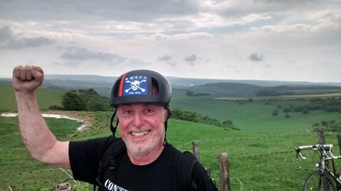 At the top of Ditchling Beacon, 15 May