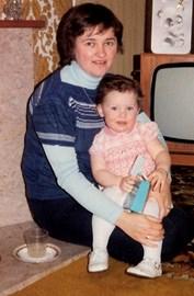 little Paula with mum