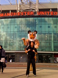 Standing outside Old Trafford