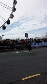 Last stretch of Brighton Marathon - GO JOEEEE