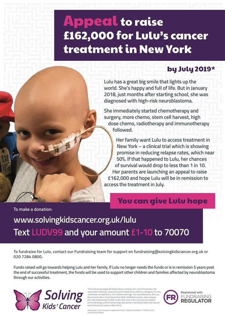 8ed5ab7d6bf Lucy Cowling is fundraising for Solving Kids' Cancer