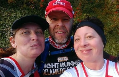 My longest run to date, 22 miles with two great friends keeping me company