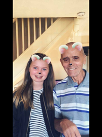 Kiera and her Grandad