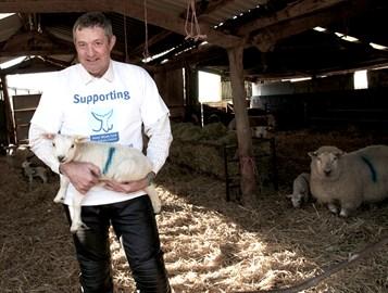 Jon and a lamb