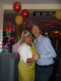 Alan with his wife Lindsey at fundraiser