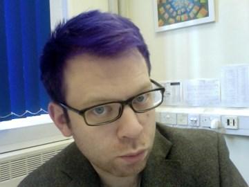 Blue steel. Purple hair. Oh yes.