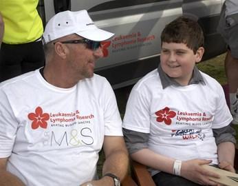 James with Ian Botham