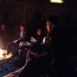 Music around the campfire thanks to Paul Lenihan -The Frank and Walters
