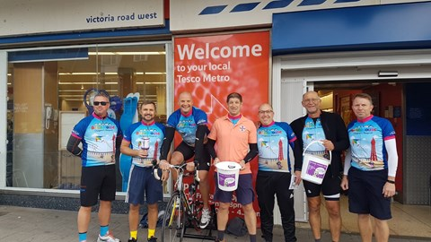 7in7 Promotion outside Tescos, Cleveleys