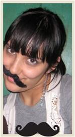 help! my mustache is sliding off...