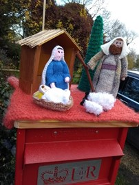 The Nativity Post box in Smith end Lane Barley