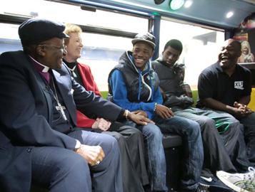 XLP Meeting Desmond Tutu and Mary Robinson