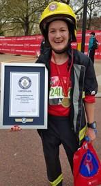 I did it! 4 hrs 9 mins 32 sec Fastest marathon in Firekit(female)