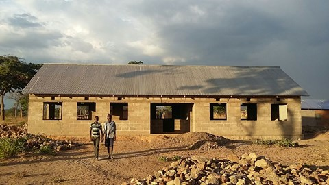 Classroom block funded by Grassroots Tanzania