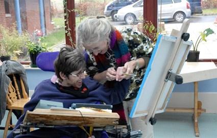 Birchwood Painter Using the Easel