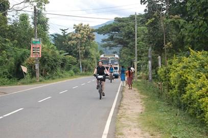 Naomi cycling in Sri Lanka