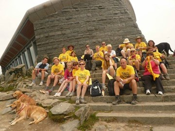 The gang at the summit!! Thanks so much for helping us hit the target and more! X