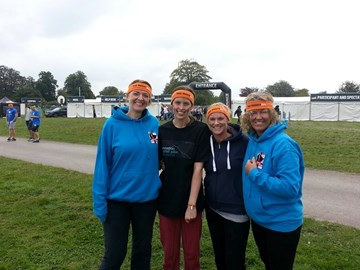 Warm and Dry after our 12 mile Tough Mudder