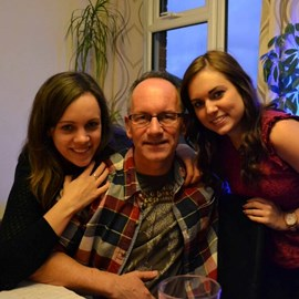 Dad with me and my sister, December 2014