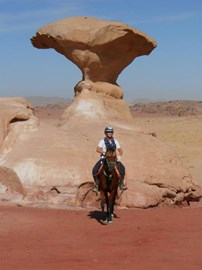 With the horse I rode on the BHS Challenge Ride in Jordan, which was what made me want to do something to fundraise more for BHS welfare.