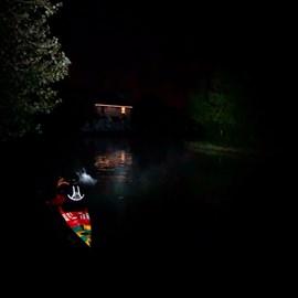 Navigating at night had its challenges