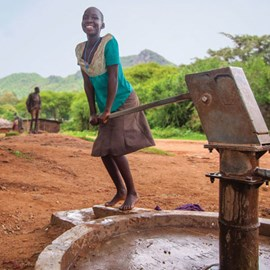 Proscovia's life has been transformed now that she has a close supply of fresh water