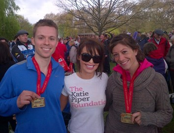 London Marathon 2012, at the end with medals